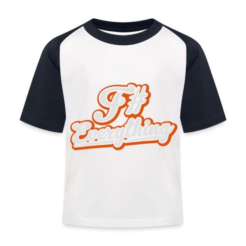 F# Everything - Kids' Baseball T-Shirt
