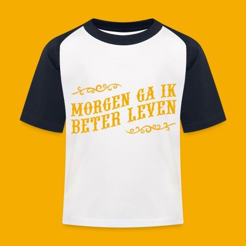 tshirt yllw 01 - Kinderen baseball T-shirt
