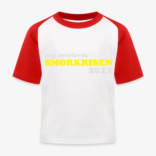 Smørkrise 2011 - Norsk - Baseball-T-skjorte for barn