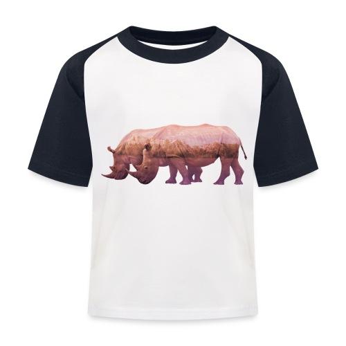 Nashorn Alpen - Kinder Baseball T-Shirt
