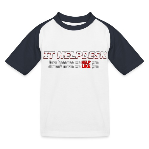 I.T. HelpDesk - Kids' Baseball T-Shirt