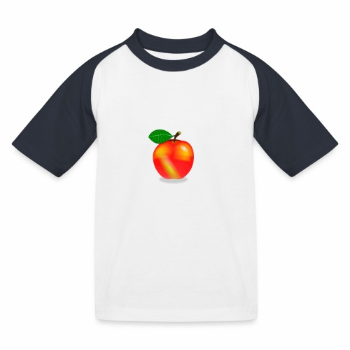 Apfel - Kinder Baseball T-Shirt
