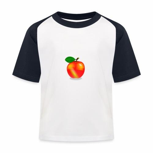 Apfel - Kinder Baseball T-Shirt
