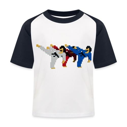 8 bit trip ninjas 2 - Kids' Baseball T-Shirt