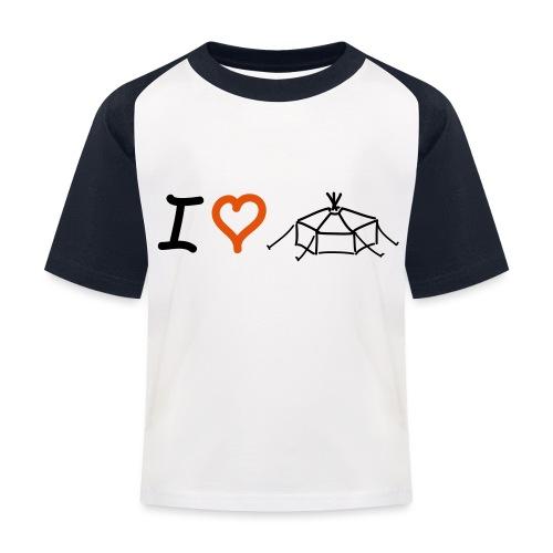 I love Jurte - Kinder Baseball T-Shirt