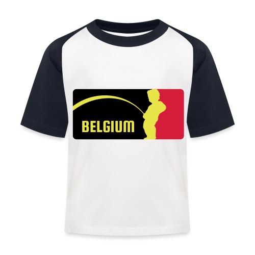 Mannekke Pis, Belgium Rode duivels - Belgium - Bel - T-shirt baseball Enfant