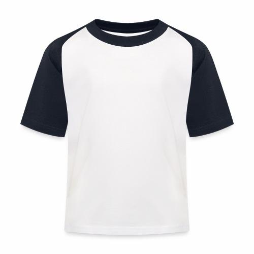 Hvit rektangulær logo - Baseball-T-skjorte for barn