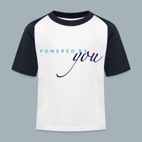Powered By You Basketbal Shirt - Kinderen baseball T-shirt