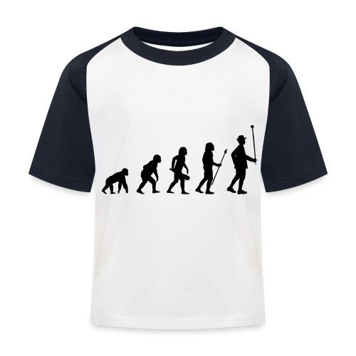 Stabführer Evolution - Kinder Baseball T-Shirt