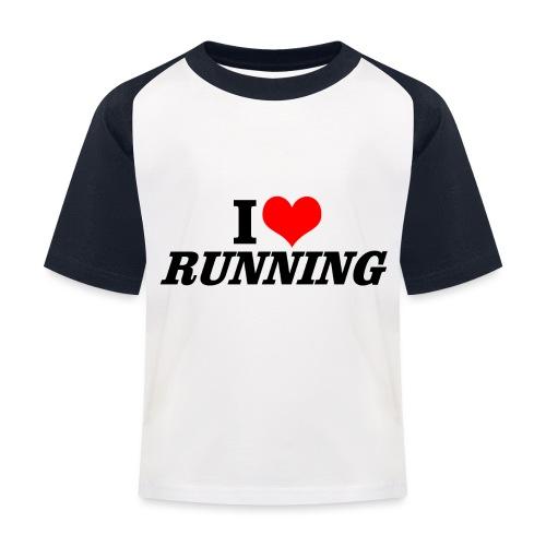 I love running - Kinder Baseball T-Shirt