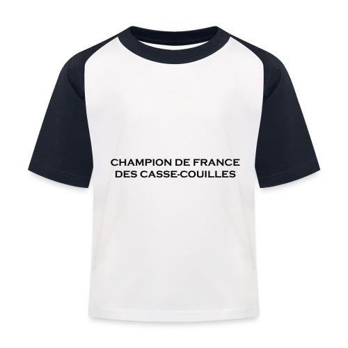 design castres - T-shirt baseball Enfant