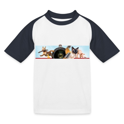 Animaux logo - Kinderen baseball T-shirt