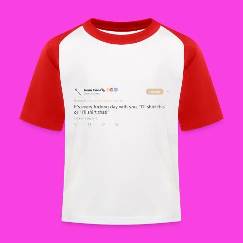 Ieuan Tweet - Kids' Baseball T-Shirt