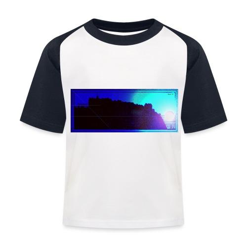 Silhouette of Edinburgh Castle - Kids' Baseball T-Shirt