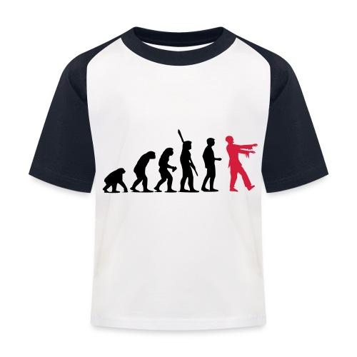 Zombie Evolution (zweifarbig) - Kinder Baseball T-Shirt
