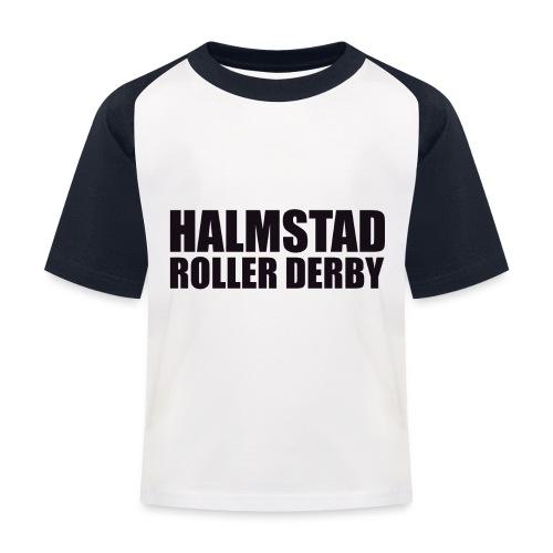 textlogga L - Baseboll-T-shirt barn
