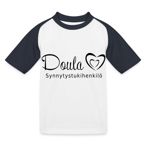 doula sydämet synnytystukihenkilö - Lasten pesäpallo  -t-paita