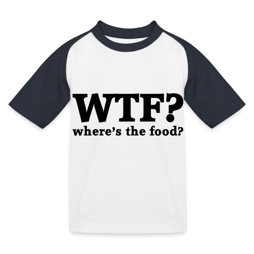 WTF - Where's the food? - Kinderen baseball T-shirt