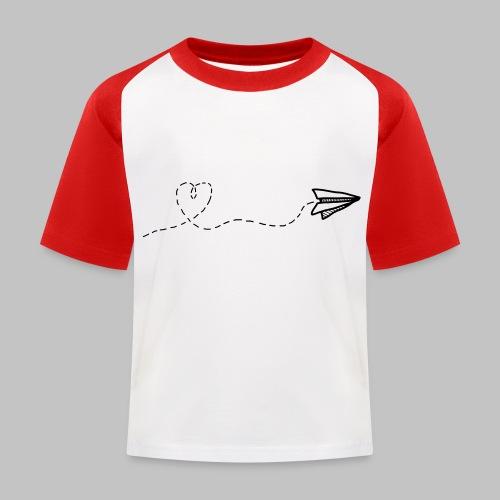 fly heart - Kids' Baseball T-Shirt