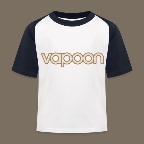 Vapoon Logo simpel 2 Farb - Kinder Baseball T-Shirt