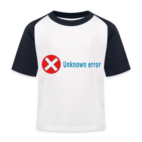 Unkown Error - Lasten pesäpallo  -t-paita