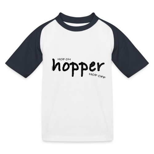 MuchoHop Hop On/Off (black) - Camiseta béisbol niño