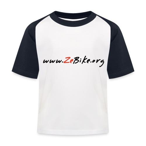 wwwzebikeorg s - T-shirt baseball Enfant