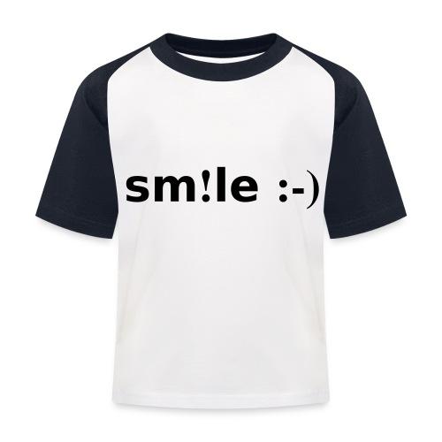 smile - sorridi - Maglietta da baseball per bambini
