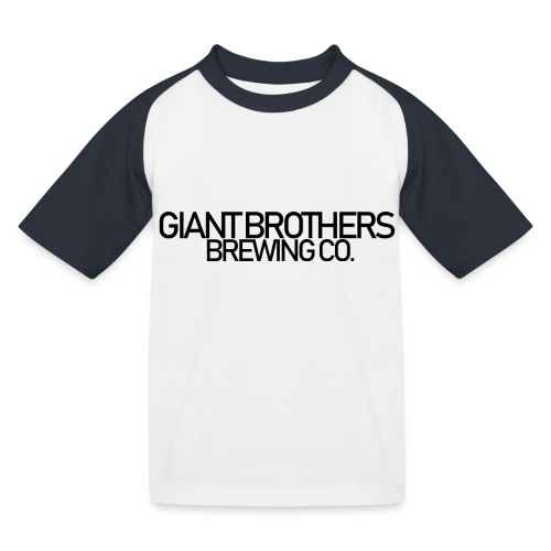 Giant Brothers Brewing co SVART - Baseboll-T-shirt barn