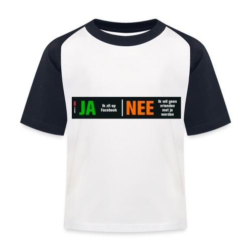 facebookvrienden - Kinderen baseball T-shirt
