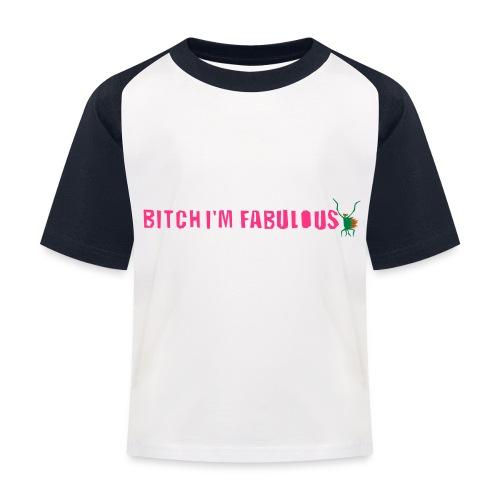 Bitch, I'm fabulous modliszka, długie - Koszulka bejsbolowa dziecięca