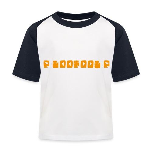 P loofool P - Orange logo - Baseball-T-skjorte for barn