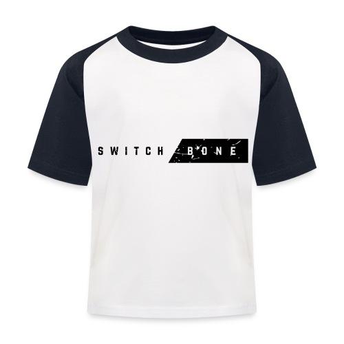 Switchbone_black - Kinderen baseball T-shirt