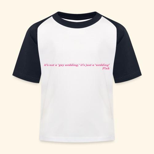 Gay wedding - Koszulka bejsbolowa dziecięca
