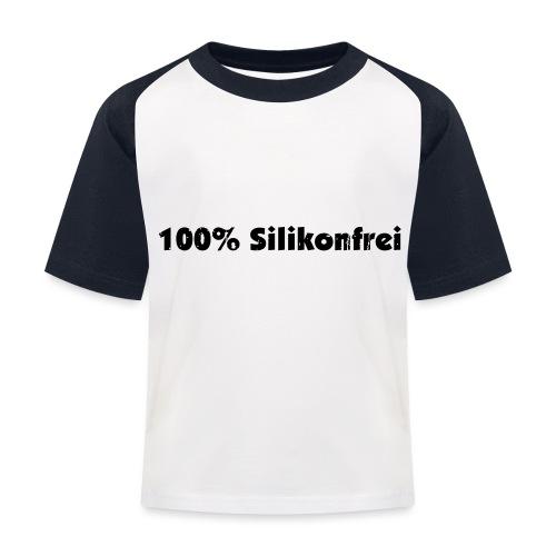 silkonfrei - Kinder Baseball T-Shirt