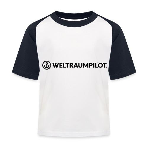 weltraumpilotquer - Kinder Baseball T-Shirt