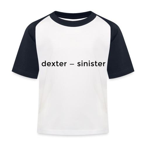dexter sinister - Baseboll-T-shirt barn