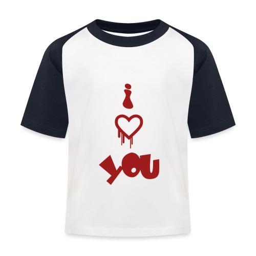Peluche i love you - Kids' Baseball T-Shirt