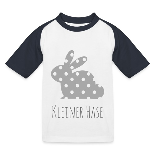 Hase grau - Kinder Baseball T-Shirt