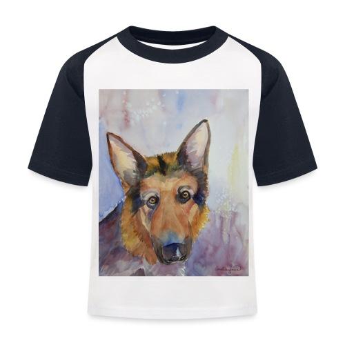 german shepherd wc - Baseball T-shirt til børn