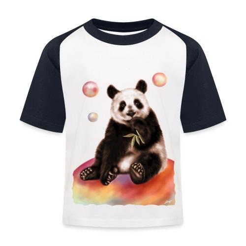 Panda World - Maglietta da baseball per bambini