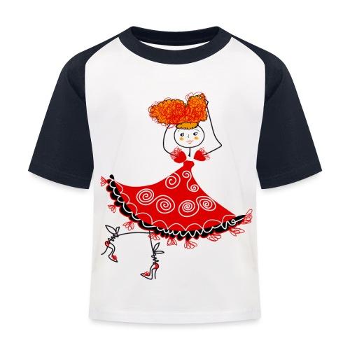 Ballerina - Maglietta da baseball per bambini