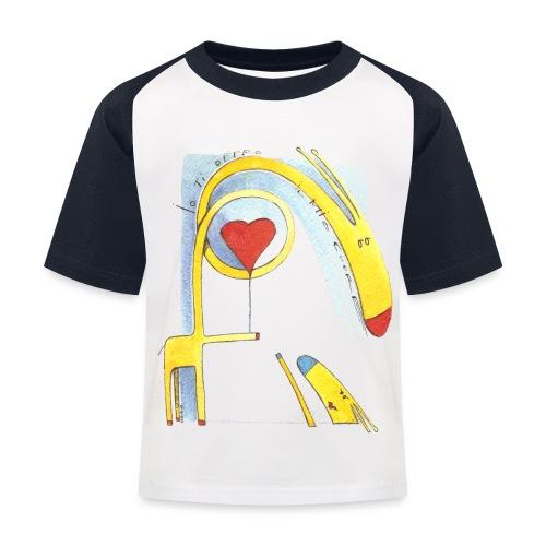 Giraffa innamorata - Maglietta da baseball per bambini