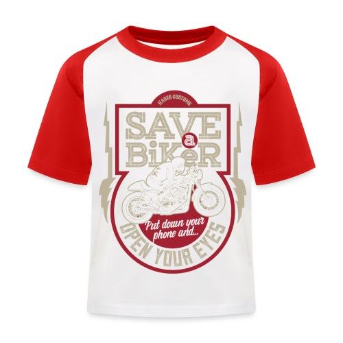 Save A Biker - Kids' Baseball T-Shirt