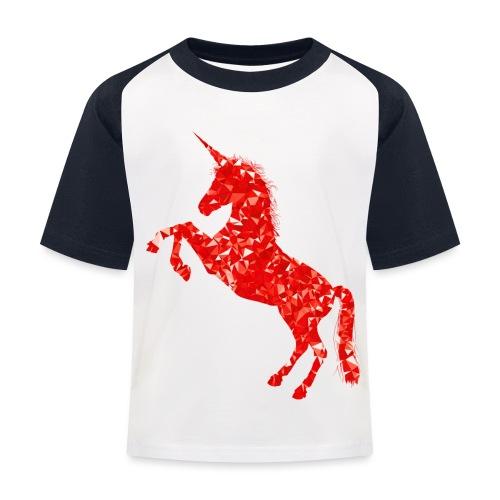 unicorn red - Koszulka bejsbolowa dziecięca
