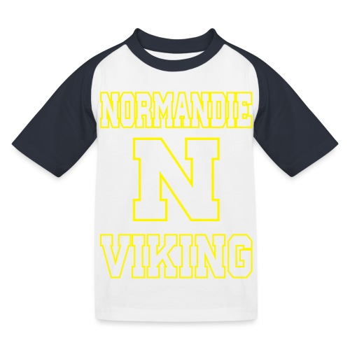 Normandie Viking Def jaune - T-shirt baseball Enfant