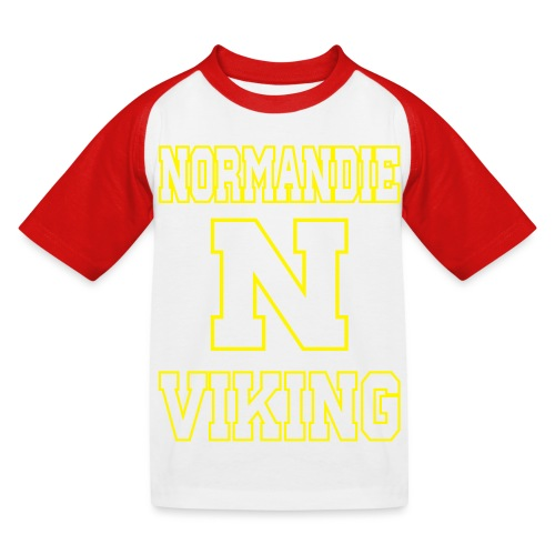 Normandie Viking Def jaune - T-shirt baseball Enfant