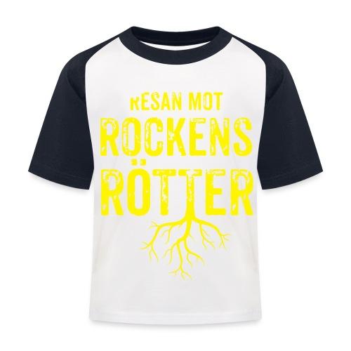 Fotbollströja svart. Resan mot rockens rötter. - Baseboll-T-shirt barn