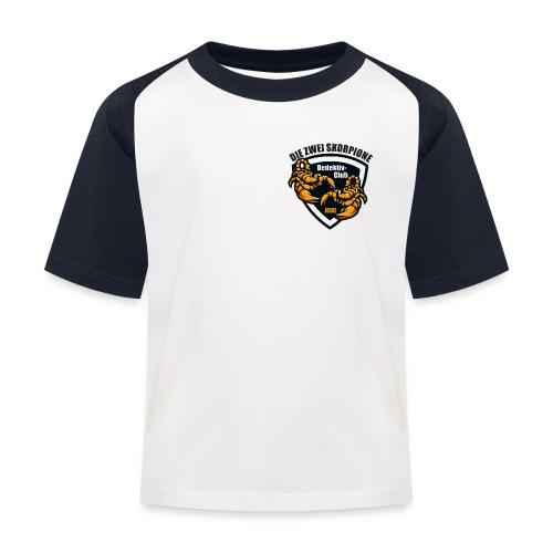 Skorpion Josse rgb - Kinder Baseball T-Shirt