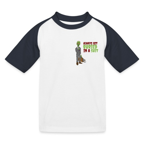 Buried in Suit - Kids' Baseball T-Shirt